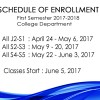 Enrollment Schedule SY 2017-2018 & Start of Classes (JUNE 5)